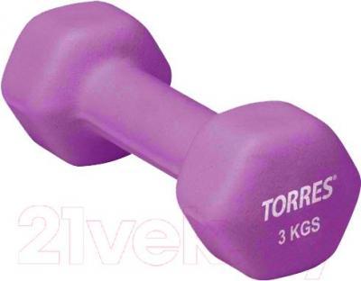 Гантель Torres PL50013 (Purple) - общий вид
