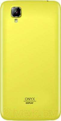 Смартфон Explay Onyx (желтый) - вид сзади