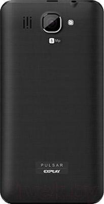 Смартфон Explay Pulsar (черный) - вид сзади