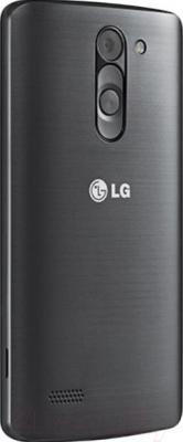 Смартфон LG L80+ Dual L Bello / D335 (черный) - вид сзади