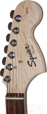 Электрогитара Fender Squier Affinity Stratocaster RW (Black) - головка грифа