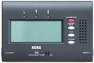 Тюнер Korg GA40BK - вид спереди