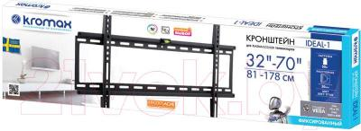 Кронштейн для телевизора Kromax Ideal-1 (темно-серый) - упаковка