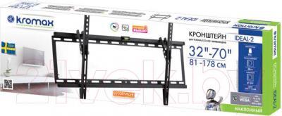 Кронштейн для телевизора Kromax Ideal-2 (темно-серый) - упаковка