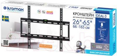 Кронштейн для телевизора Kromax Ideal-3 (темно-серый) - упаковка