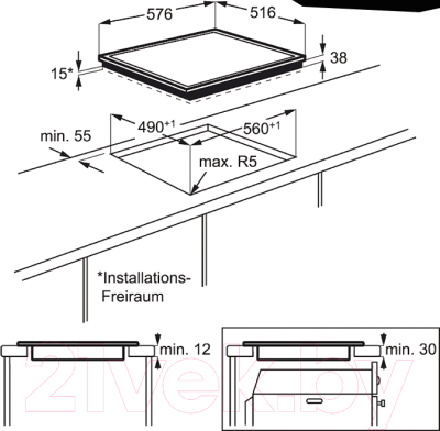 Электрическая варочная панель Electrolux EHF96547XK