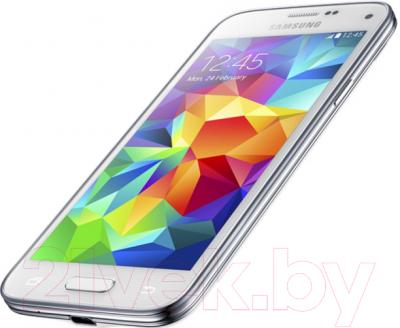Смартфон Samsung Galaxy S5 mini / G800H (белый) - вполоборота