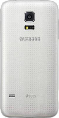 Смартфон Samsung Galaxy S5 mini / G800H (белый) - вид сзади