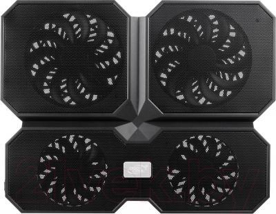 Подставка для ноутбука Deepcool Multi Core X6 (Black) - фронтальный вид
