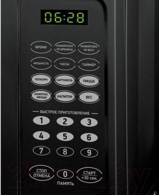 Микроволновая печь BBK 20MWS-727S/B - панель управления
