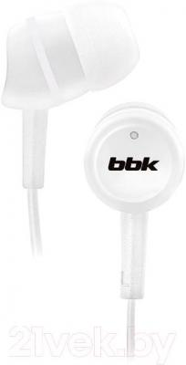 Наушники BBK EP-1220S (White) - общий вид
