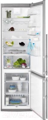 Холодильник с морозильником Electrolux EN4011AOX - общий вид