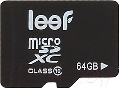 Карта памяти Leef microSDXC (Class 10) 64GB (LFMSD-06410R) - общий вид