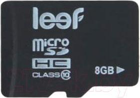 Карта памяти Leef microSDHC Class 10 8GB (LFMSD-00810R) - общий вид