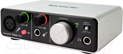 Аудиоинтерфейс Focusrite iTrack Solo - общий вид
