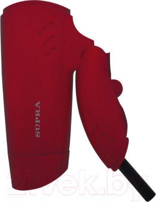 Компактный фен Supra PHS-1201 (рубиновый) - складная ручка
