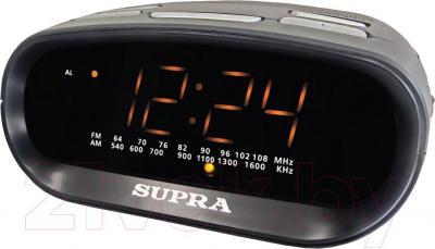 Радиочасы Supra SA-32FM (черно-желтый) - общий вид