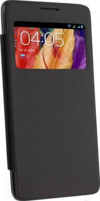 Смартфон Fly IQ4601 / Era Style 2 (черный) - с чехлом