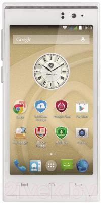 Смартфон Prestigio MultiPhone 5455 Duo (белый) - общий вид