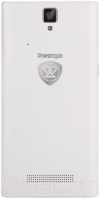 Смартфон Prestigio MultiPhone 5455 Duo (белый) - вид сзади