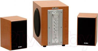 Мультимедиа акустика Sven MS-960 (Oak) - общий вид