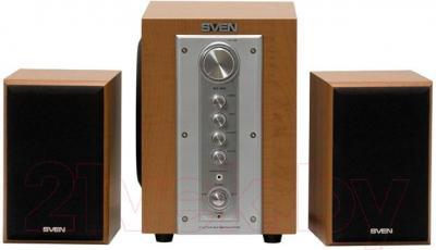 Мультимедиа акустика Sven MS-960 (Oak) - вид спереди