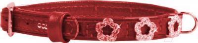 Ошейник Collar Brilliance 48983 (XS, красный, с украшением) - общий вид