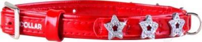 Ошейник Collar Brilliance 48993 (XS, красный, с украшением) - общий вид