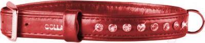Ошейник Collar Brilliance 30293-1 (XS, красный, со стразами) - общий вид