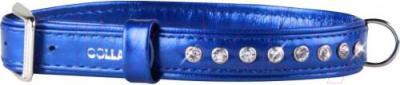 Ошейник Collar Brilliance 30582 (S, синий, со стразами) - общий вид