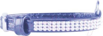 Ошейник Collar Brilliance 30252 (XS, синий, с украшением) - общий вид