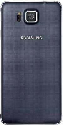 Смартфон Samsung G850F Galaxy Alpha (черный) - вид сзади