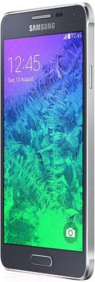 Смартфон Samsung G850F Galaxy Alpha (черный) - вполоборота