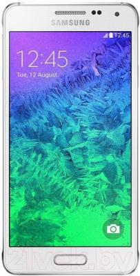 Смартфон Samsung G850F Galaxy Alpha (белый) - общий вид