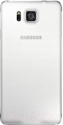Смартфон Samsung G850F Galaxy Alpha (белый) - вид сзади