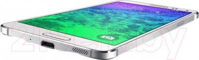 Смартфон Samsung G850F Galaxy Alpha (белый) - вид снизу
