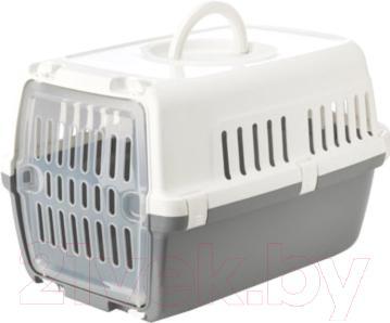 Переноска для животных Savic Zephos 1 322200WG (бело-серый) - общий вид