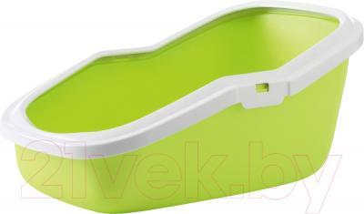 Туалет-лоток Savic Aseo (бело-салатовый) - общий вид