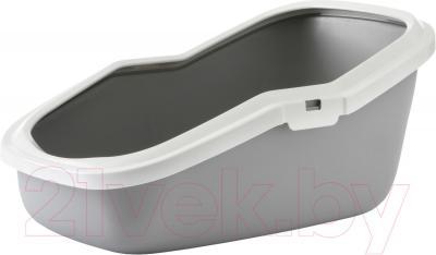 Туалет-лоток Savic Aseo (бело-серый) - общий вид