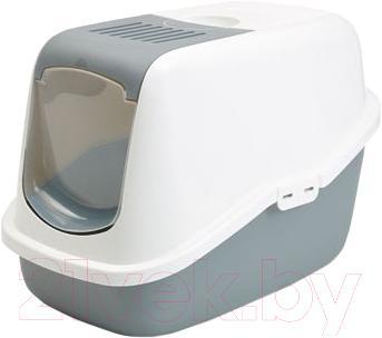 Туалет-домик Savic Nestor (бело-серый) - общий вид