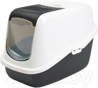 Туалет-домик Savic Nestor (бело-черный) - общий вид
