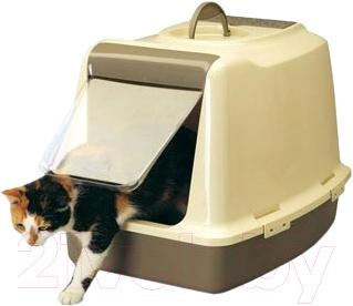 Туалет-домик Savic Sphinx (серый/айвори) - общий вид