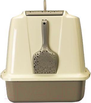 Туалет-домик Savic Sphinx (серый/айвори) - вид сзади