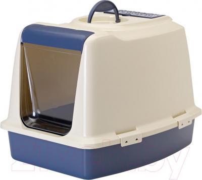 Туалет-домик Savic Sphinx (синий/айвори) - общий вид