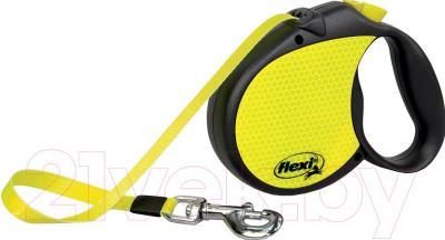 Поводок-рулетка Flexi Neon трос (L, светоотражающий) - общий вид