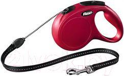 Поводок-рулетка Flexi New CLASSIC 11793 (M, красный) - общий вид