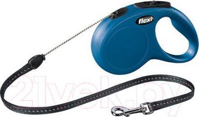Поводок-рулетка Flexi New CLASSIC 11792 (M, синий) - общий вид