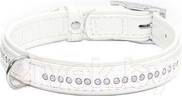 Ошейник Collar Brilliance 3030 (S, белый, со стразами) - общий вид