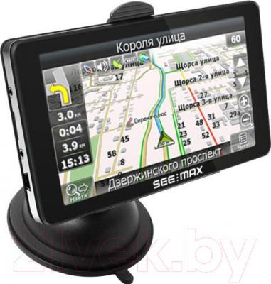 GPS навигатор SeeMax navi E510 Lite - общий вид с креплением