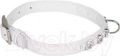 Ошейник Collar Brilliance 3093 (XS, White, с украшением) - общий вид
